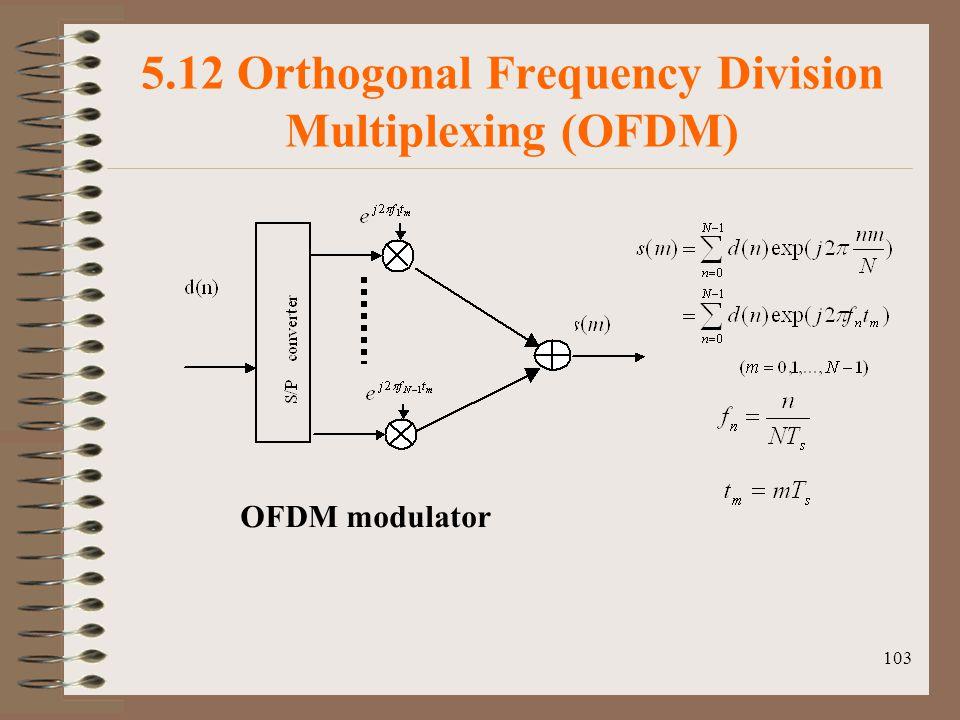 103 5.12 Orthogonal Frequency Division Multiplexing (OFDM) OFDM modulator