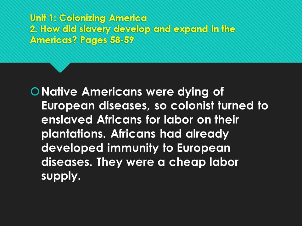 Unit 1: Colonizing America 3.