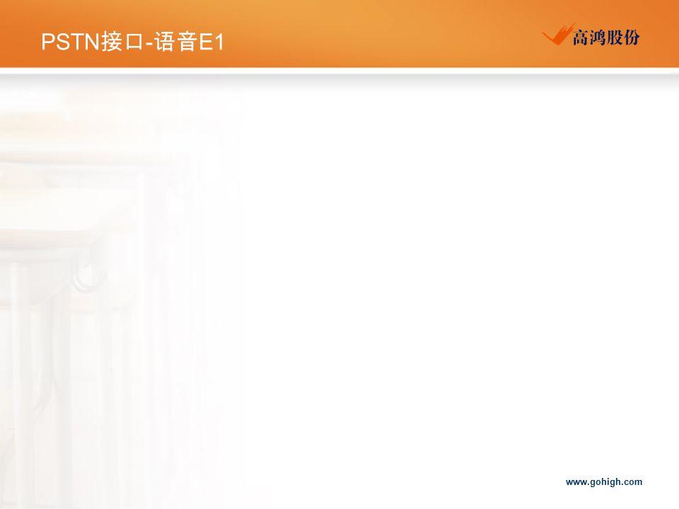 www.gohigh.com PSTN 接口 - 语音 E1