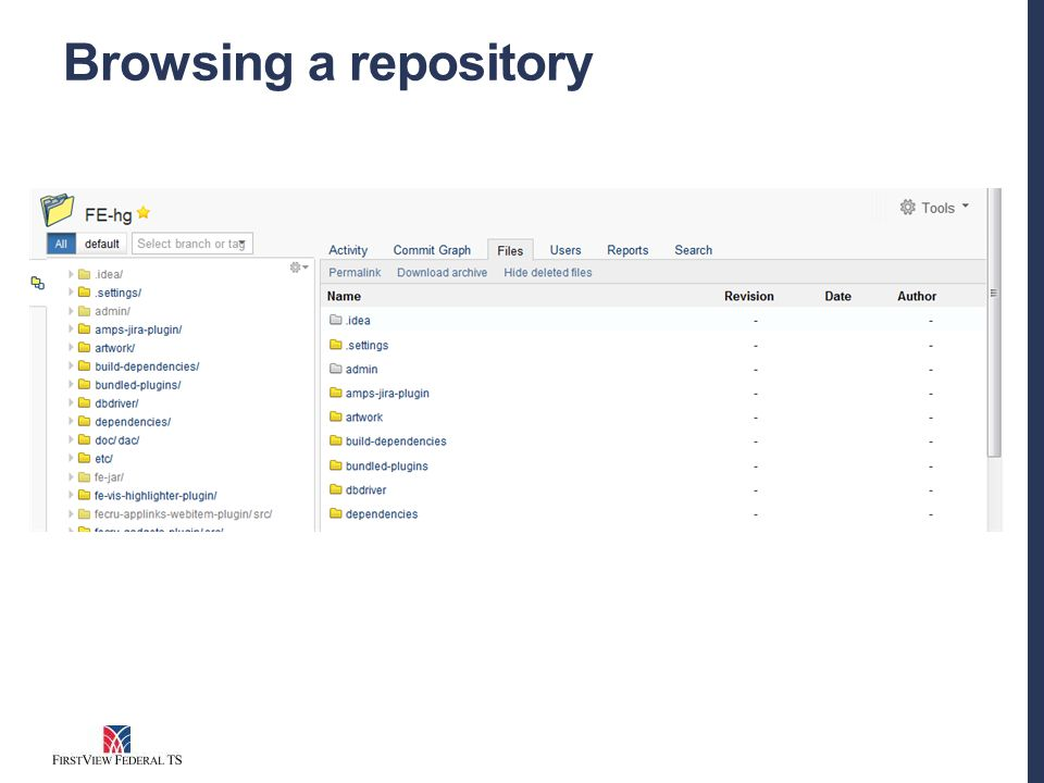 Browsing a repository