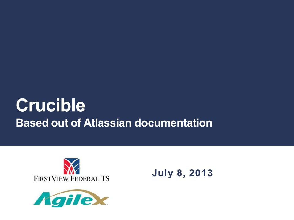 Crucible Based out of Atlassian documentation July 8, 2013