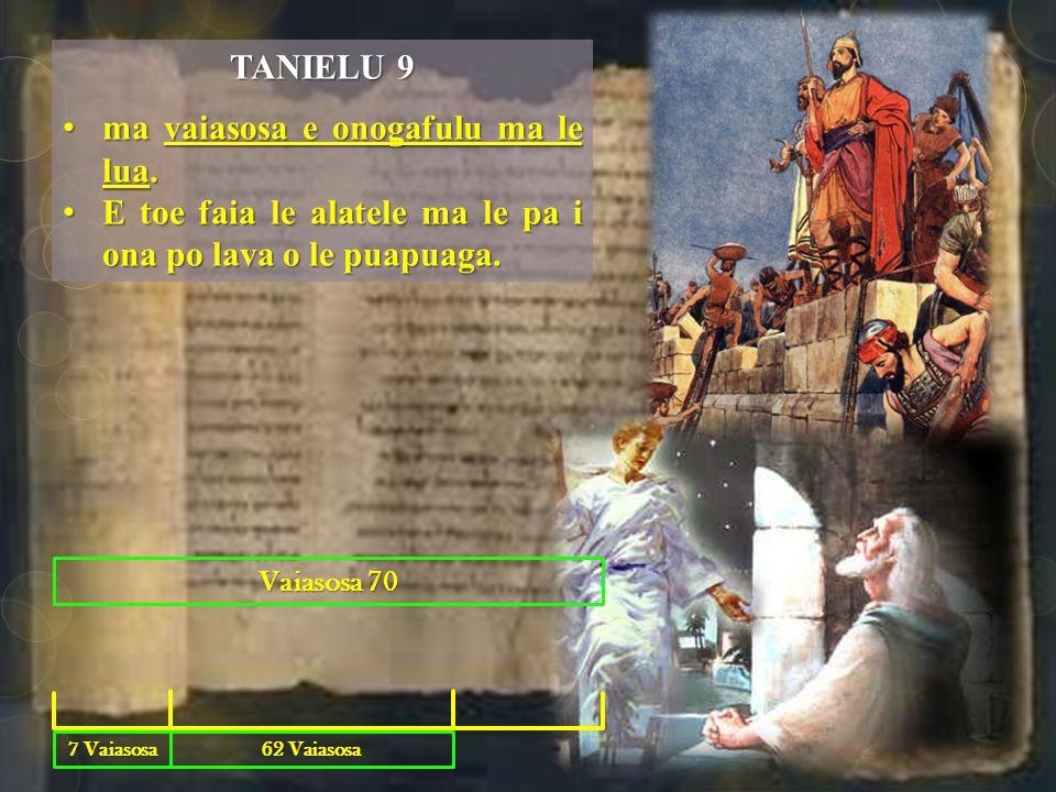 TANIELU 9 ma vaiasosa e onogafulu ma le lua.ma vaiasosa e onogafulu ma le lua.