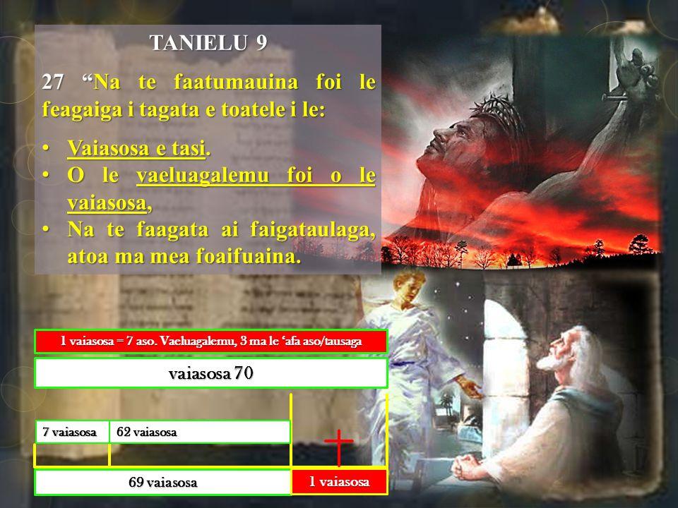 TANIELU 9 27 Na te faatumauina foi le feagaiga i tagata e toatele i le: Vaiasosa e tasi.Vaiasosa e tasi.