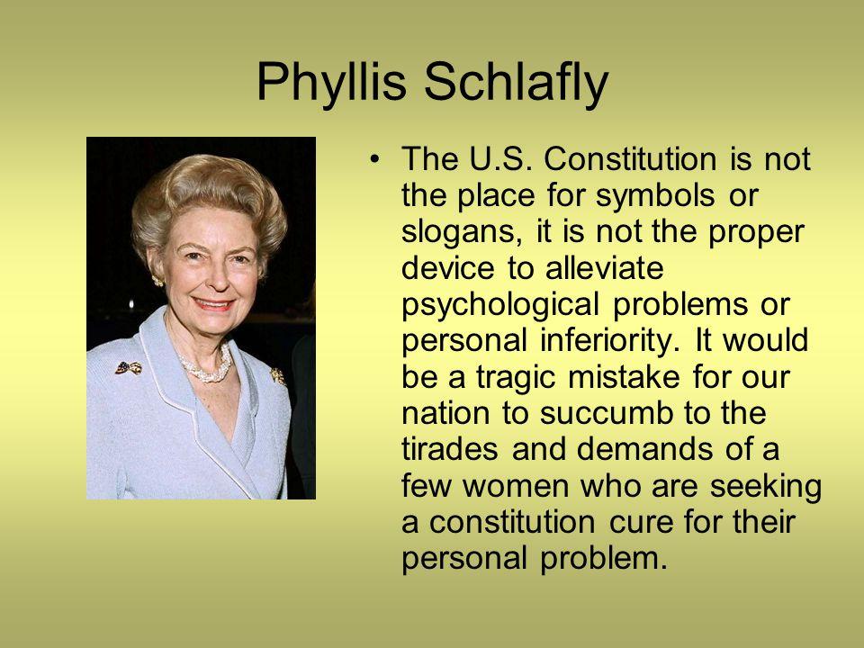 Phyllis Schlafly The U.S.
