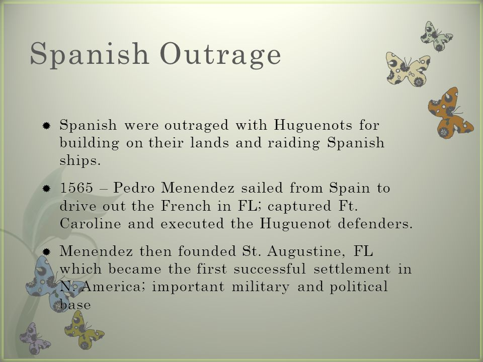 Spanish Outrage