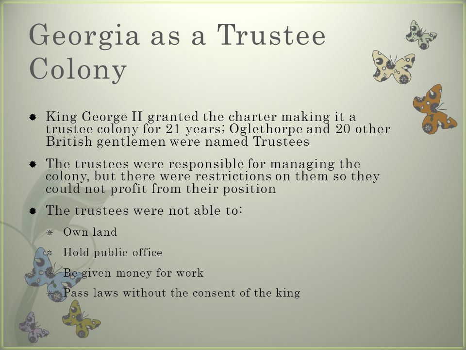Georgia as a Trustee Colony
