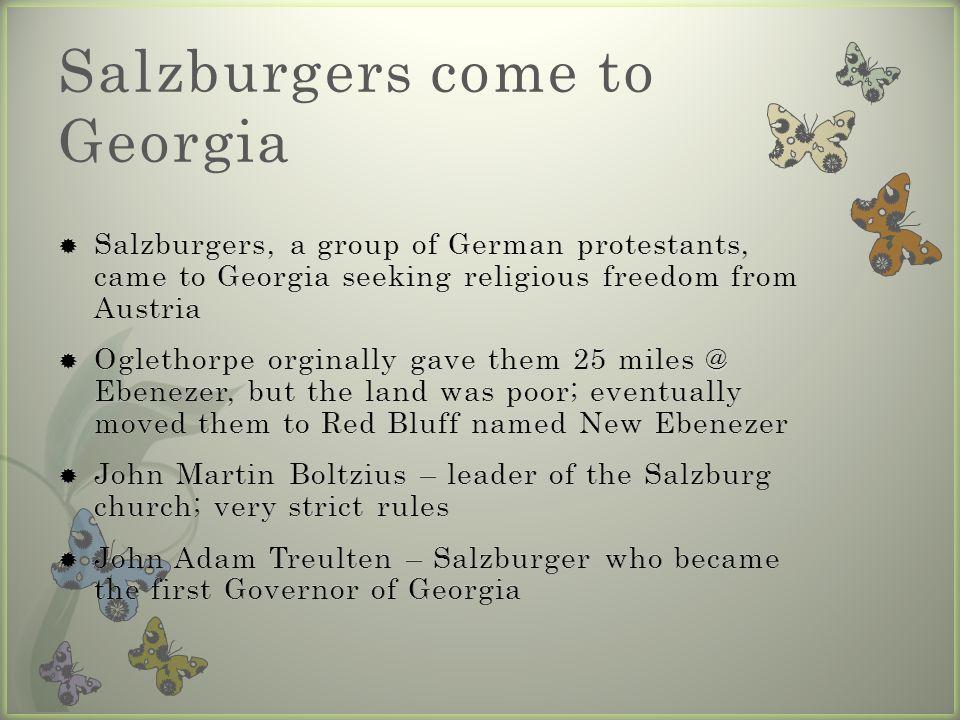 Salzburgers come to Georgia