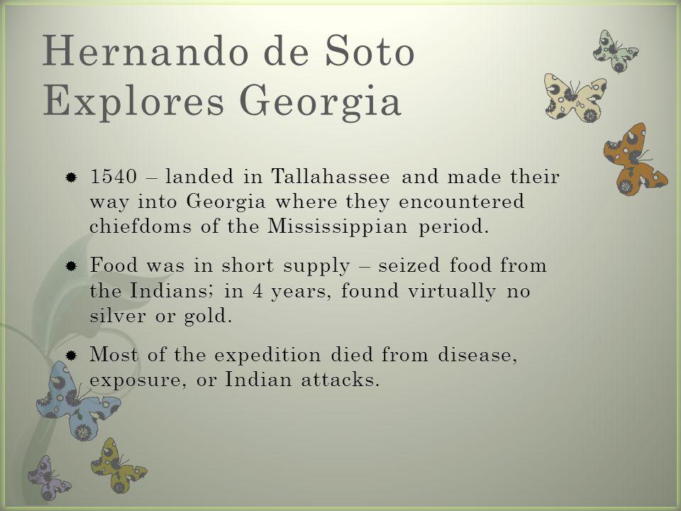 Hernando de Soto Explores Georgia