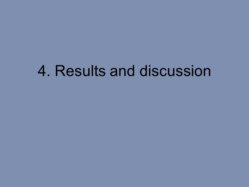 4. Results and discussion