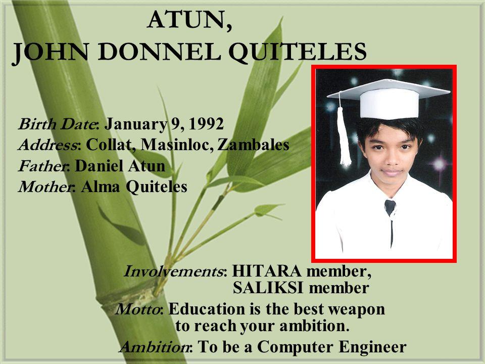 Birth Date: March 24, 1992 Address: North Pob.