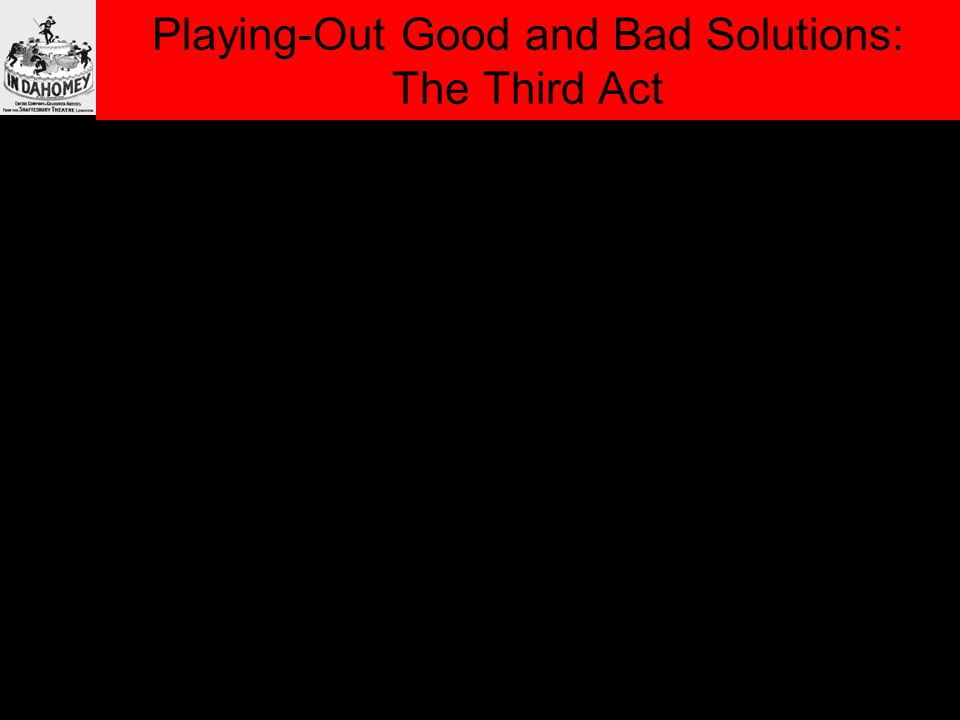 Playing-Out Good and Bad Solutions: The Third Act