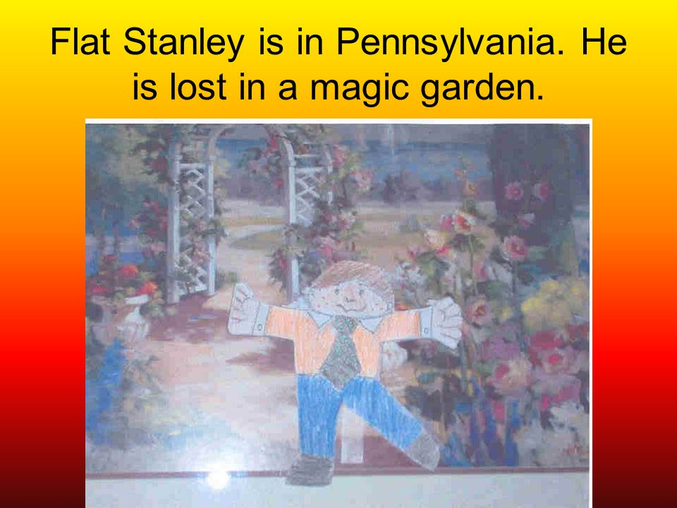 Flat Stanley is in P.A. and he is going to go on a hay ride to pick pumpkins.