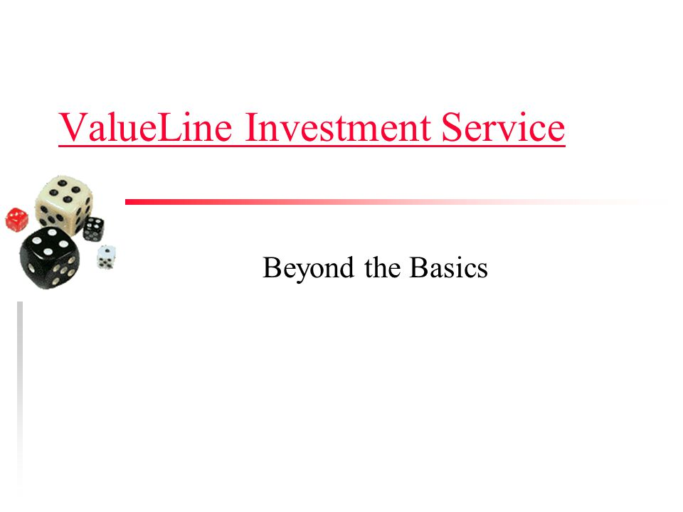 ValueLine Investment Service Beyond the Basics