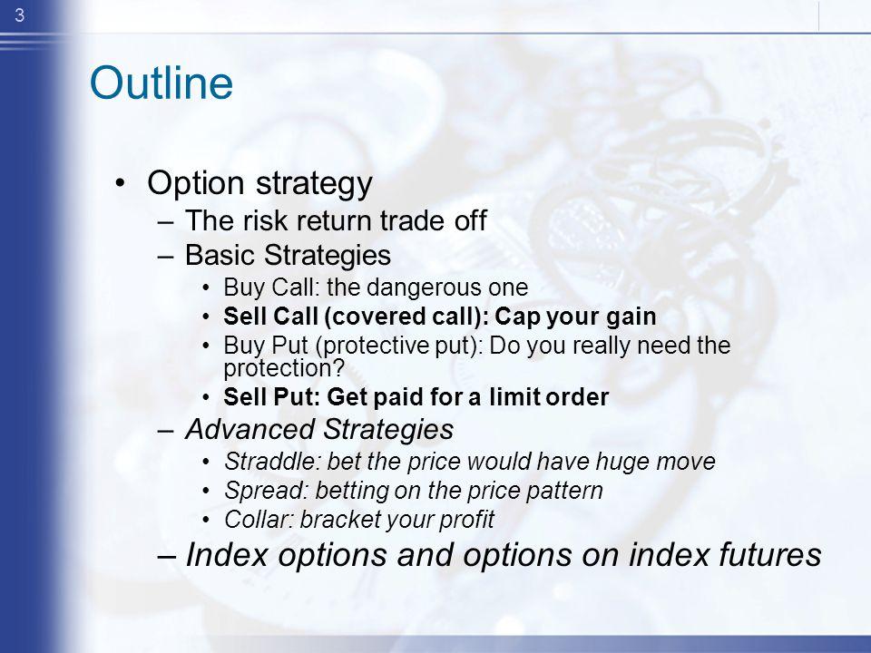 14 Profit Profiles for Puts 0 Profits Stock Price at expiration Put Writer Put Holder