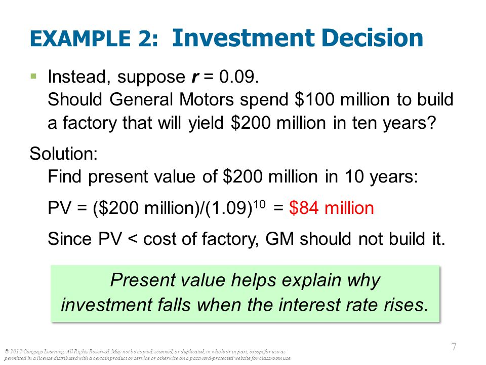 ACTIVE LEARNING Present value ACTIVE LEARNING 1 Present value You are thinking of buying a six-acre lot for $70,000.