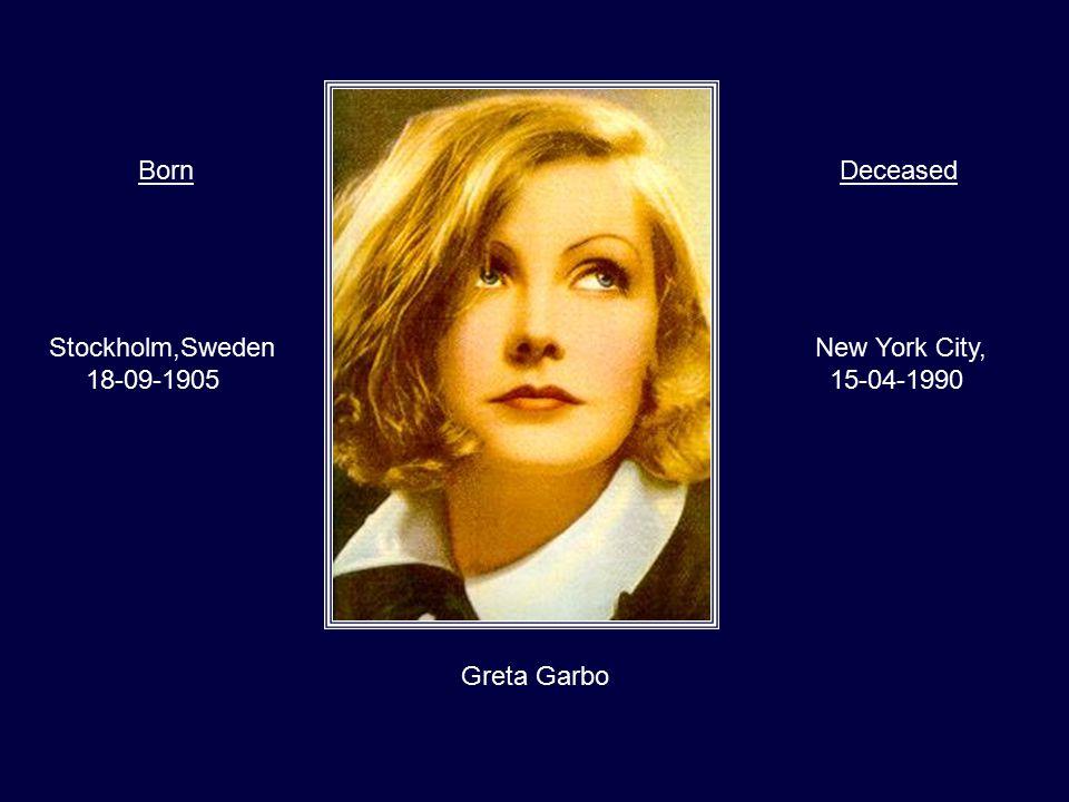 Gregory Peck Californië, 05-04-1916 California, 12-06-2003 BornDeceased