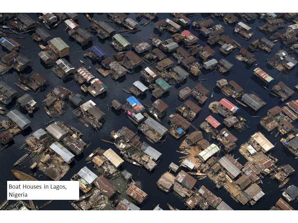 Boat Houses in Lagos, Nigeria
