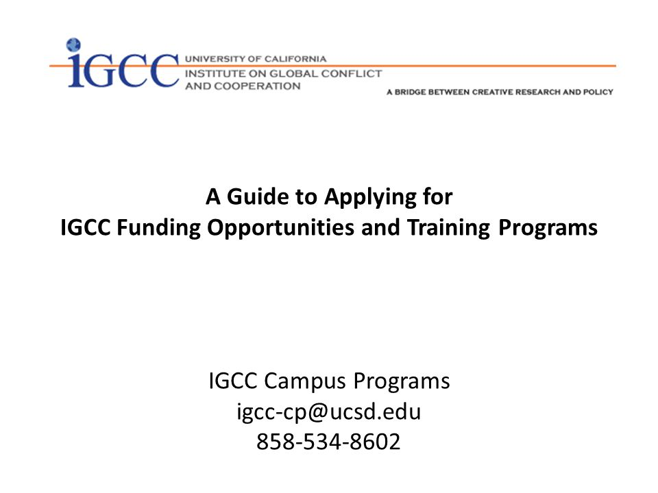 IGCC was founded in 1983 by Herbert F.