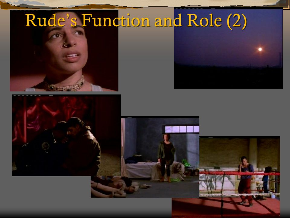 Rude's Function and Role (2)