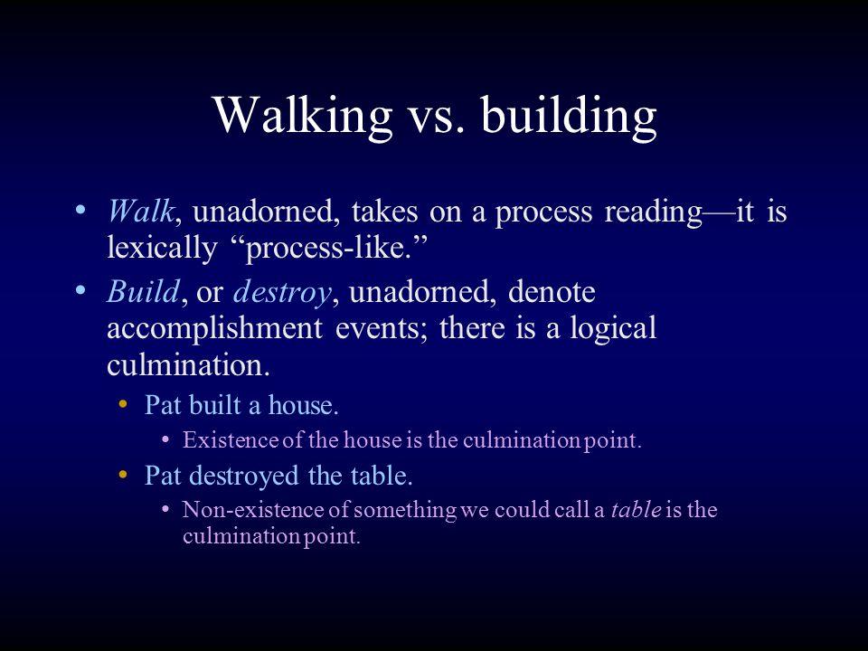 Walking vs.