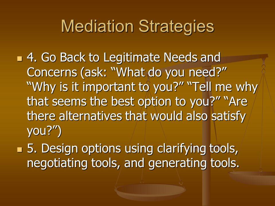 Mediation Strategies 4.