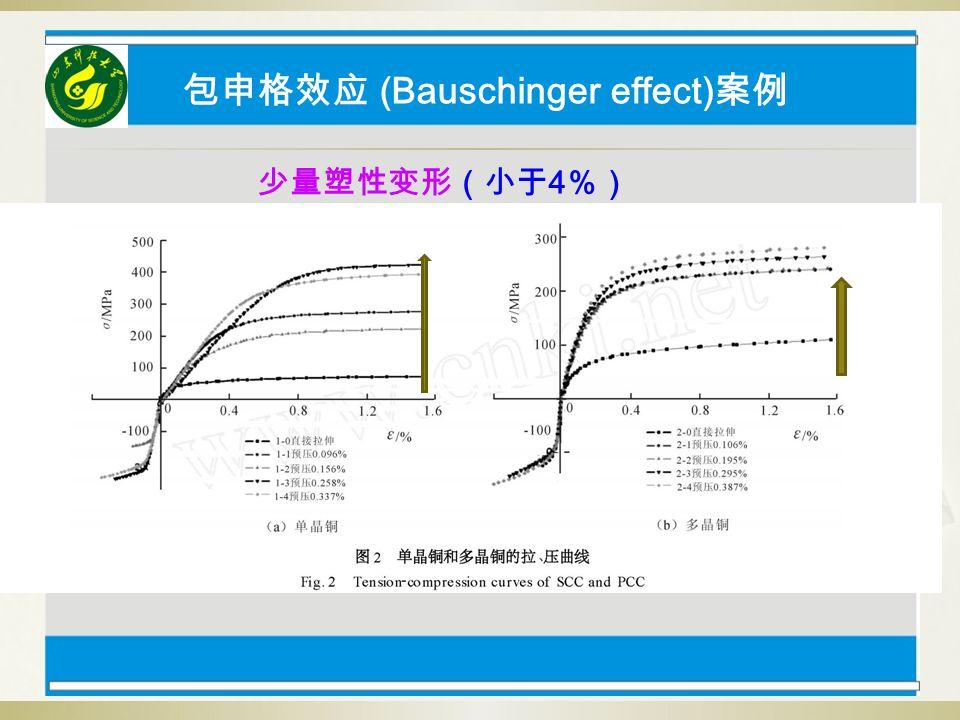 包申格效应 (Bauschinger effect) 案例 少量塑性变形(小于 4 %)