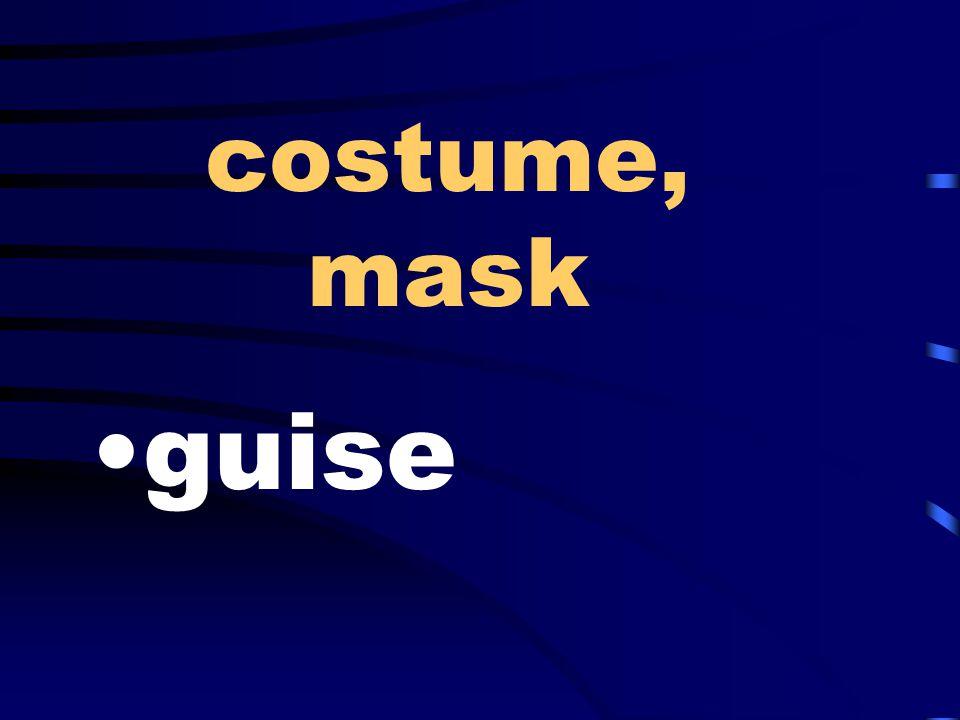 costume, mask guise