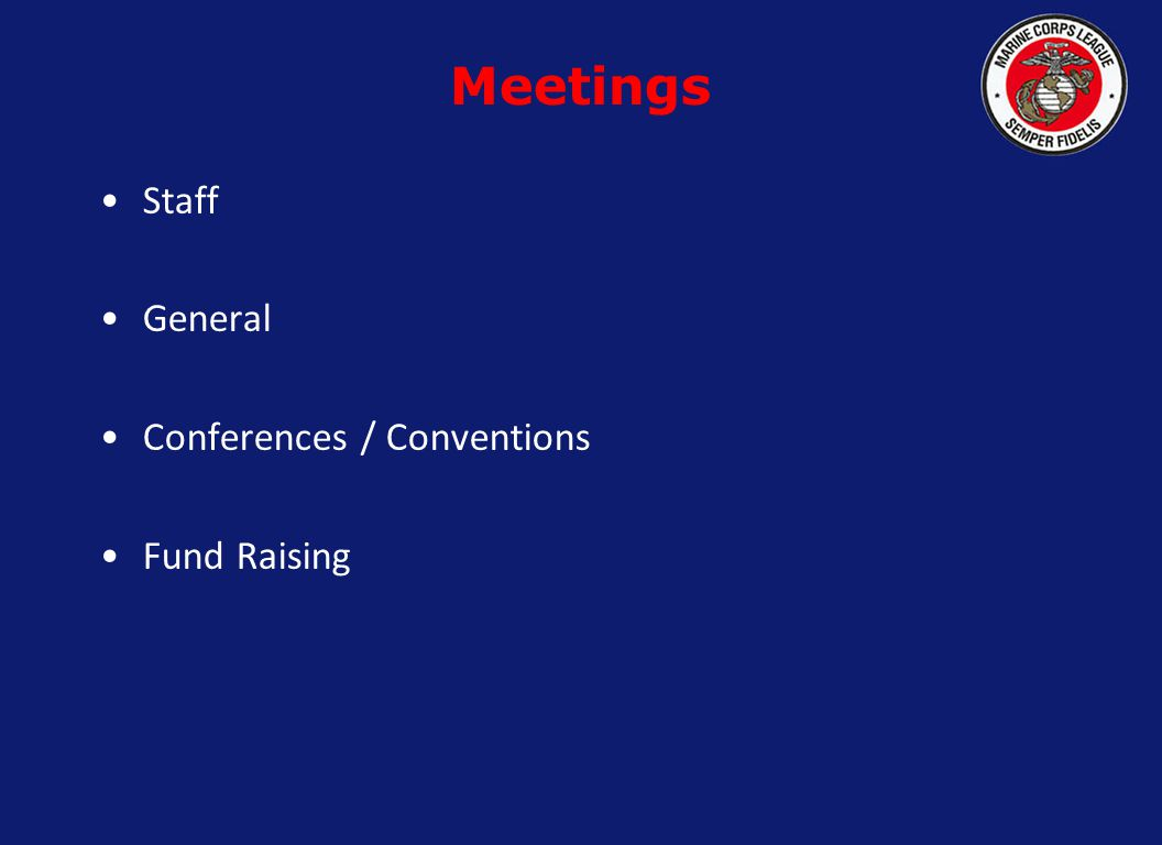 Staff General Conferences / Conventions Fund Raising