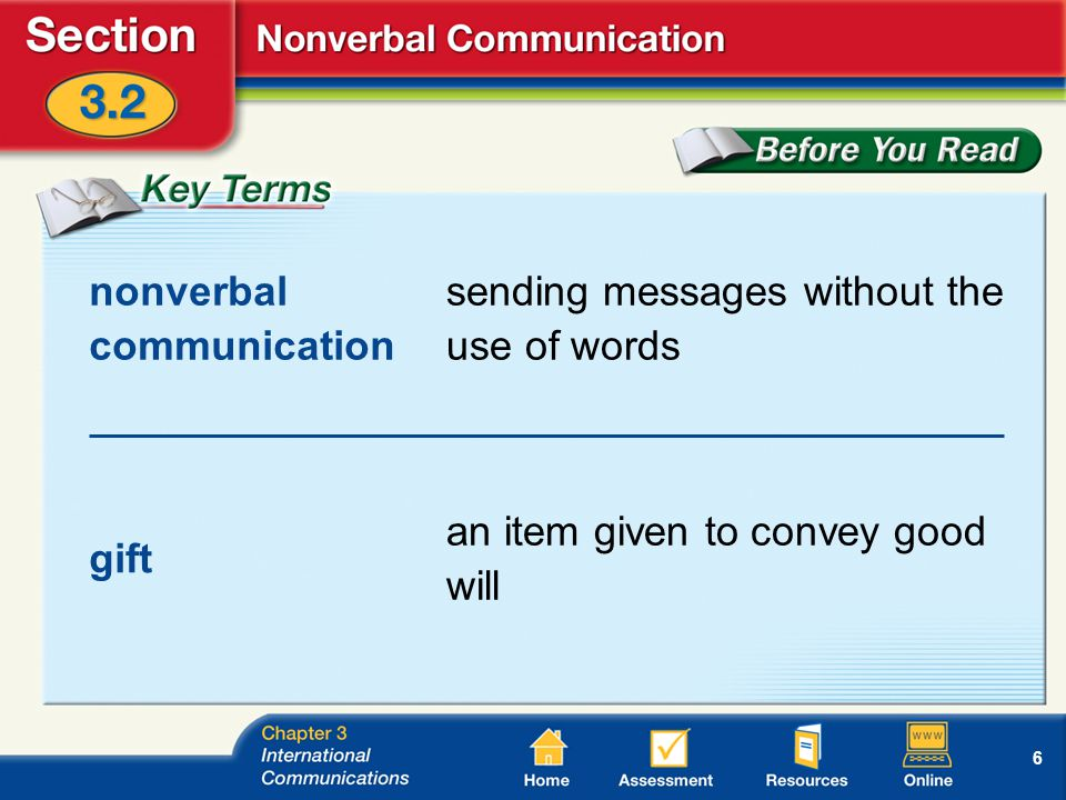 6 nonverbal communication sending messages without the use of words gift an item given to convey good will