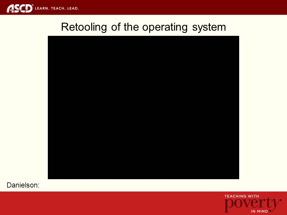 Retooling of the operating system Danielson: