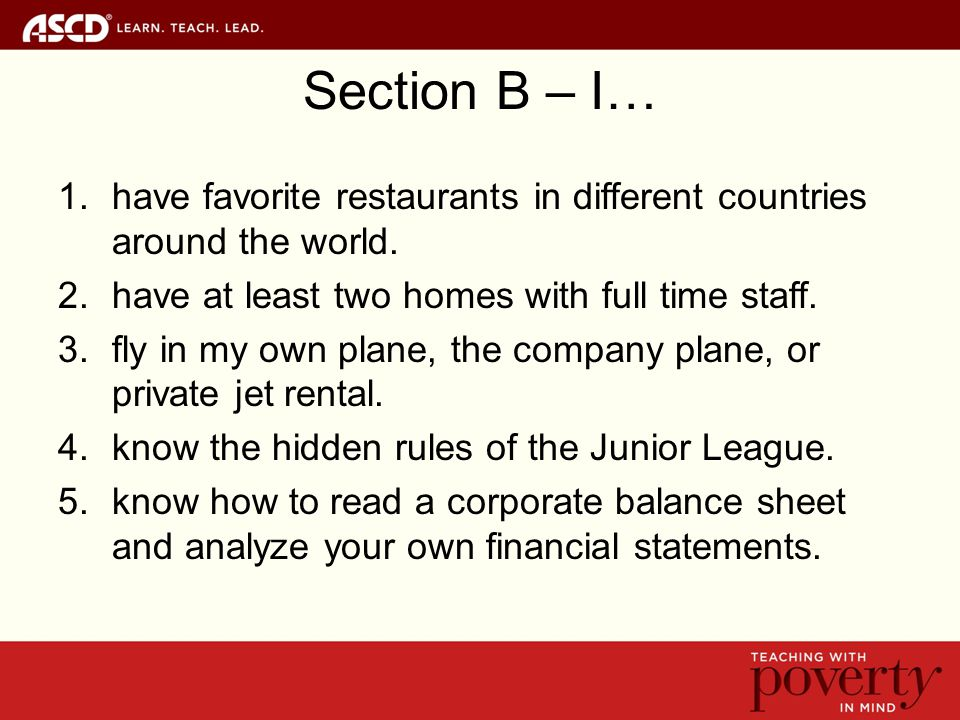 Section B – I… 1.have favorite restaurants in different countries around the world.