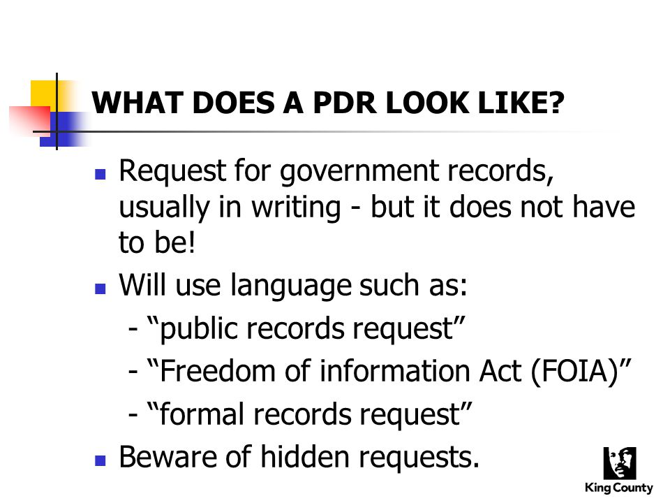 WHAT DOES A PDR LOOK LIKE.