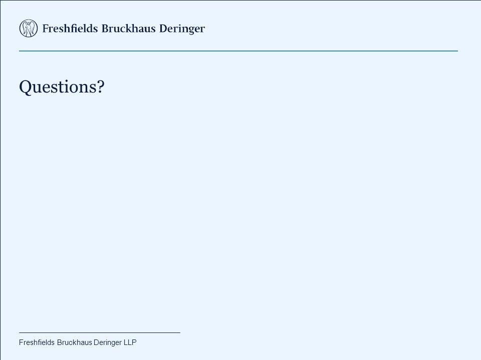 Freshfields Bruckhaus Deringer LLP Questions