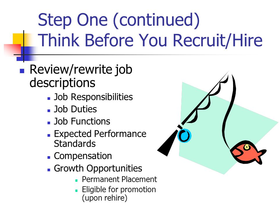 Step Two Find Winning Applicants Create Your Recruiting Plan Finding Potential Applicants