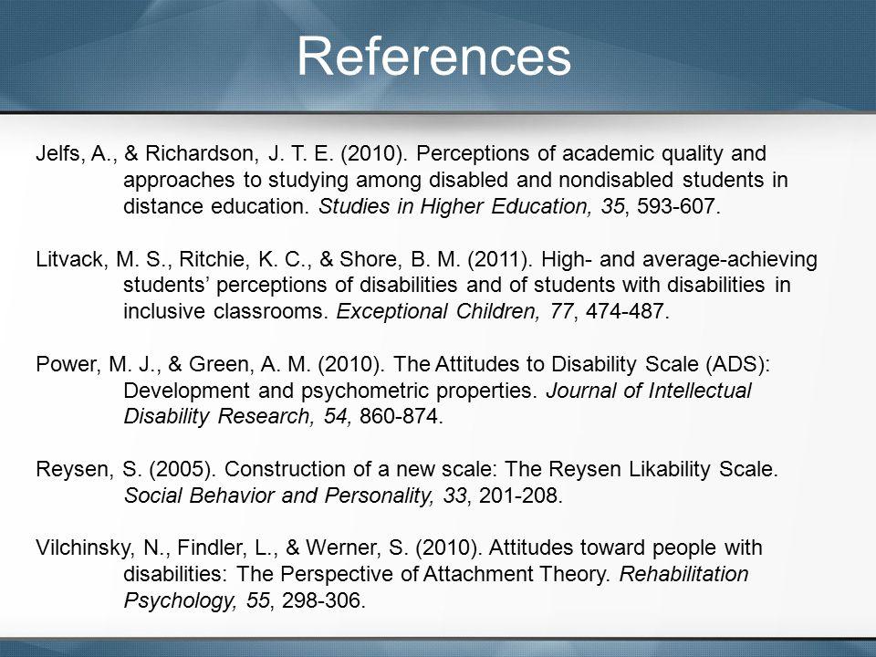 References Jelfs, A., & Richardson, J. T. E. (2010).