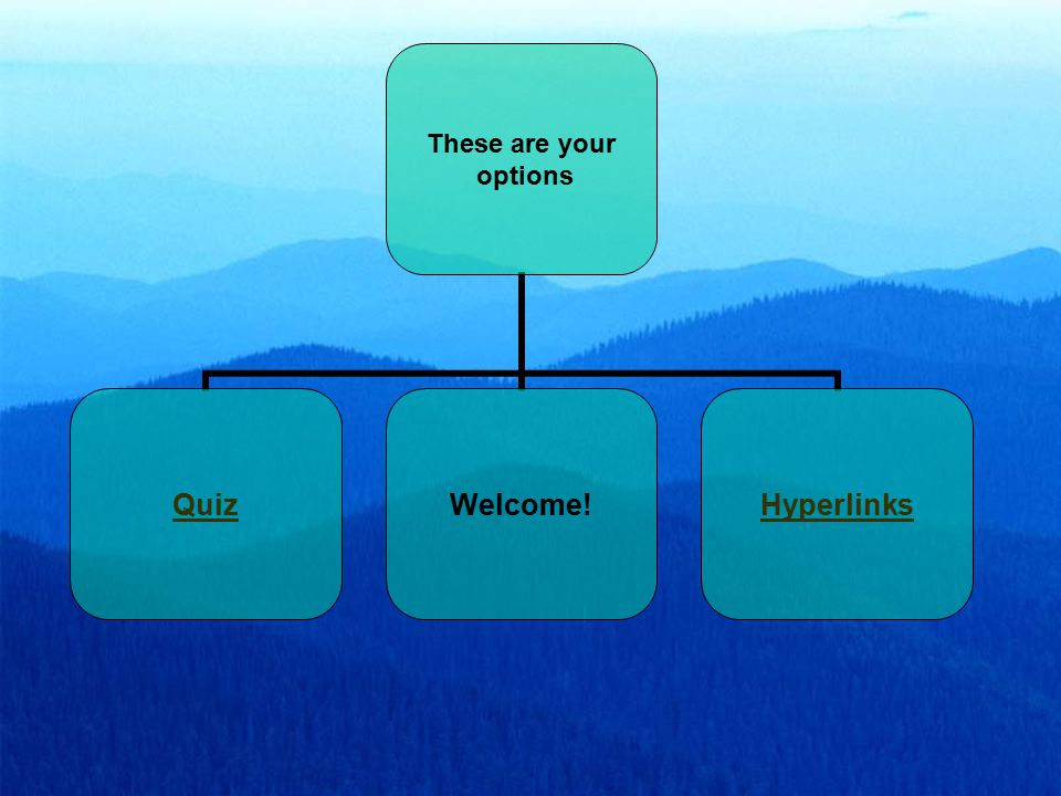 These are your options QuizWelcome!Hyperlinks