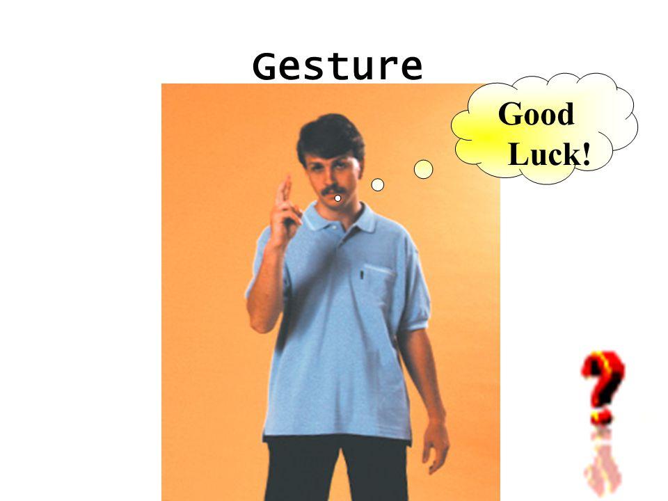 Gesture Good Luck!
