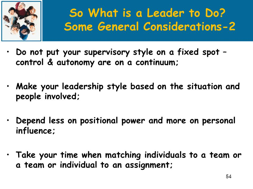 So What is a Leader to Do.