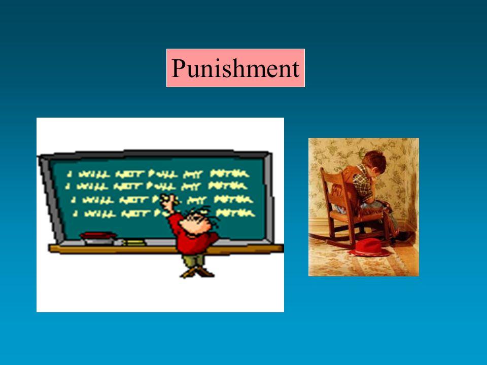 Punishment very effective in controlling human behavior 1.
