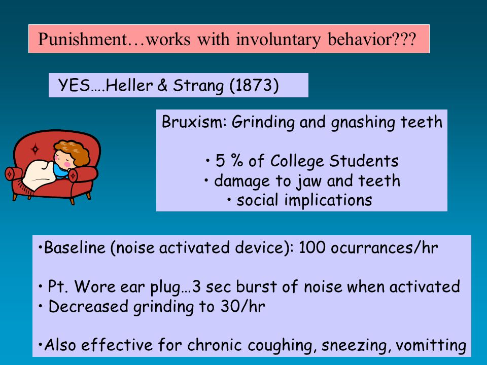 YES….Heller & Strang (1873) Punishment…works with involuntary behavior .