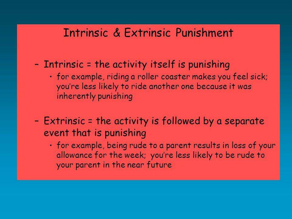 Does Punishment Work?