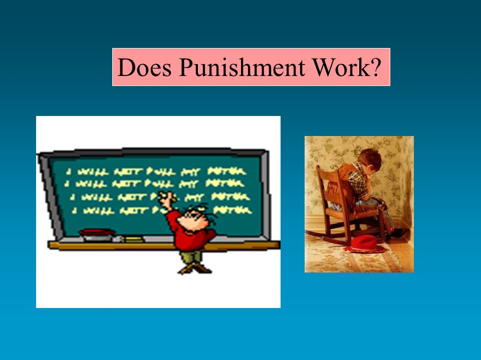 Does Punishment Work