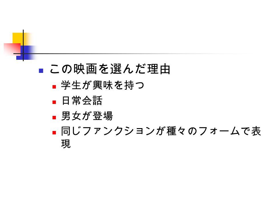 手順 DVD から字幕を取り出す エクセルに 1 行 1 文で貼り付ける それに情報を付け加える 話者 話者の性別 文が会話、トガキ、歌かなど ファンクション