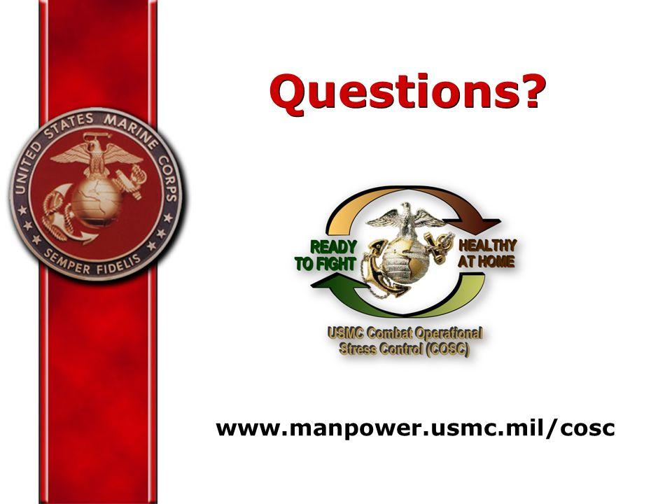 Questions www.manpower.usmc.mil/cosc
