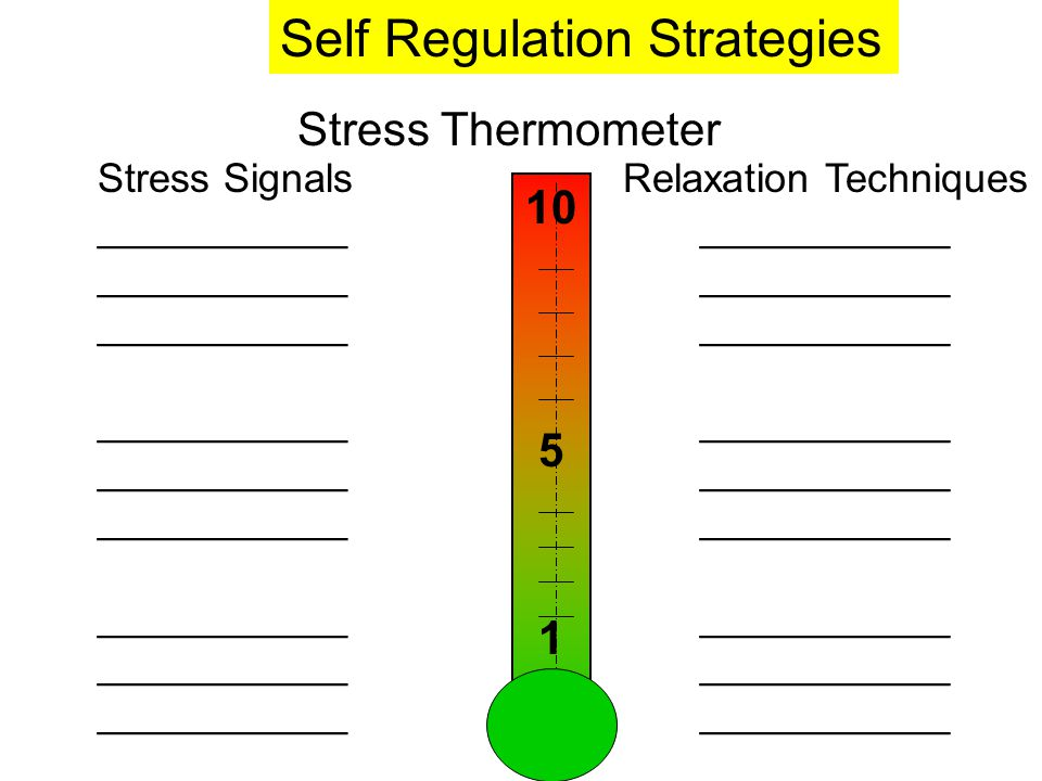 Stress Thermometer Stress Signals ___________ ___________ ___________ ___________ Relaxation Techniques ___________ ___________ ___________ __________