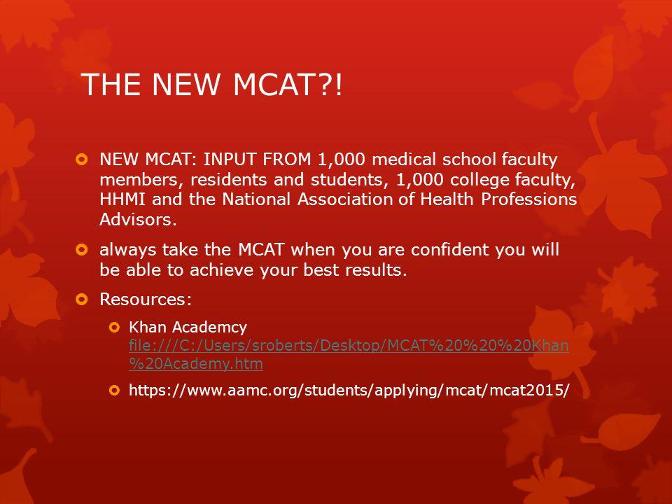THE NEW MCAT?.