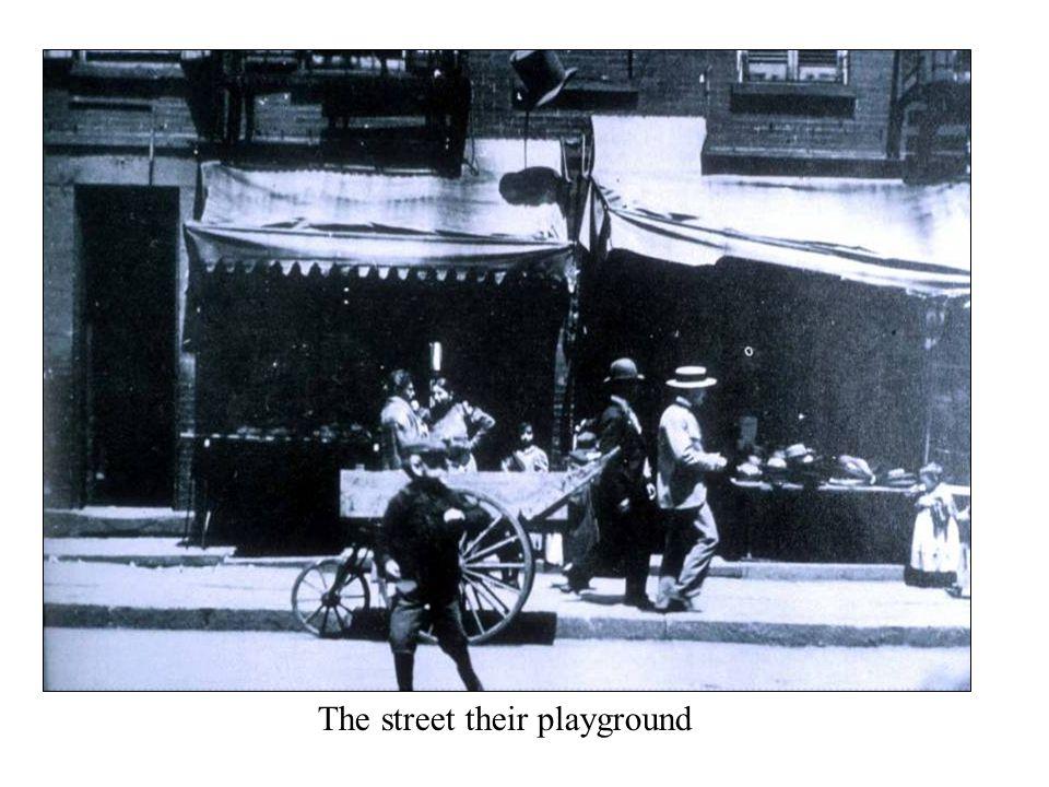 The street their playground