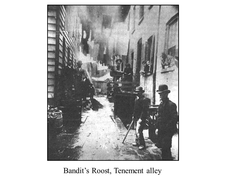 Bandit's Roost, Tenement alley