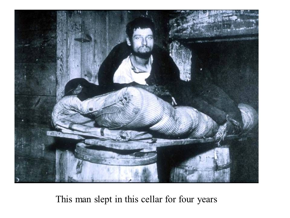 This man slept in this cellar for four years