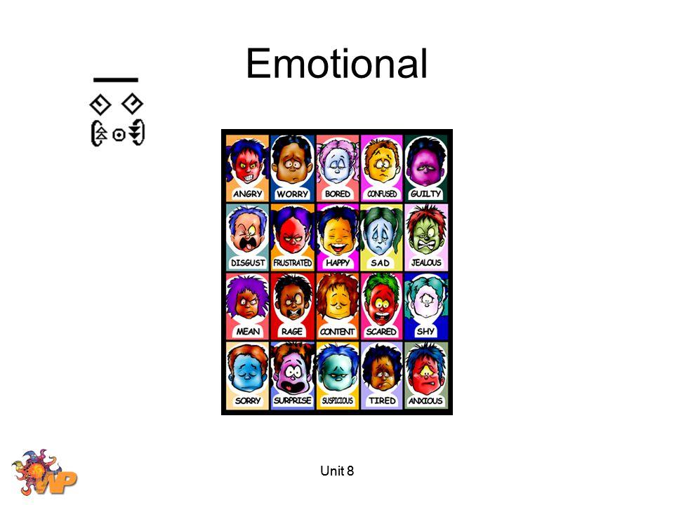 Unit 8 Emotional